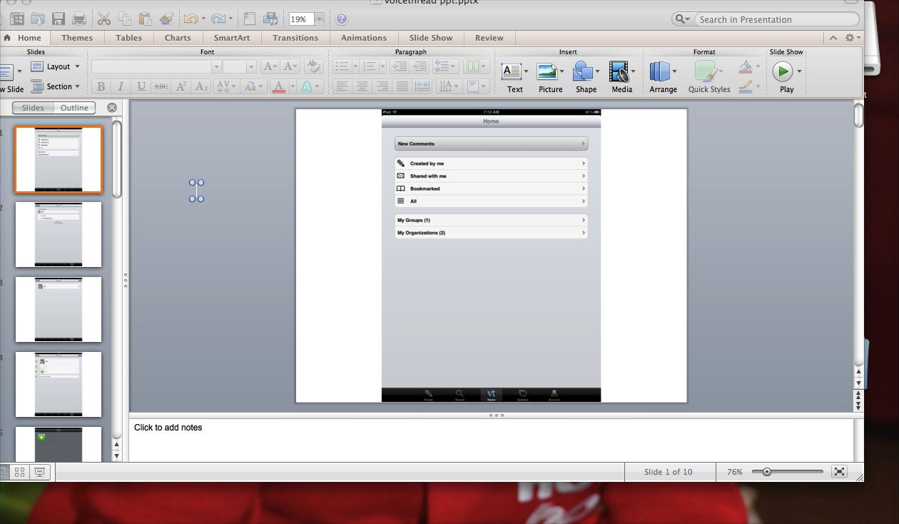 [Screencast: Creating a voicethread for a project]