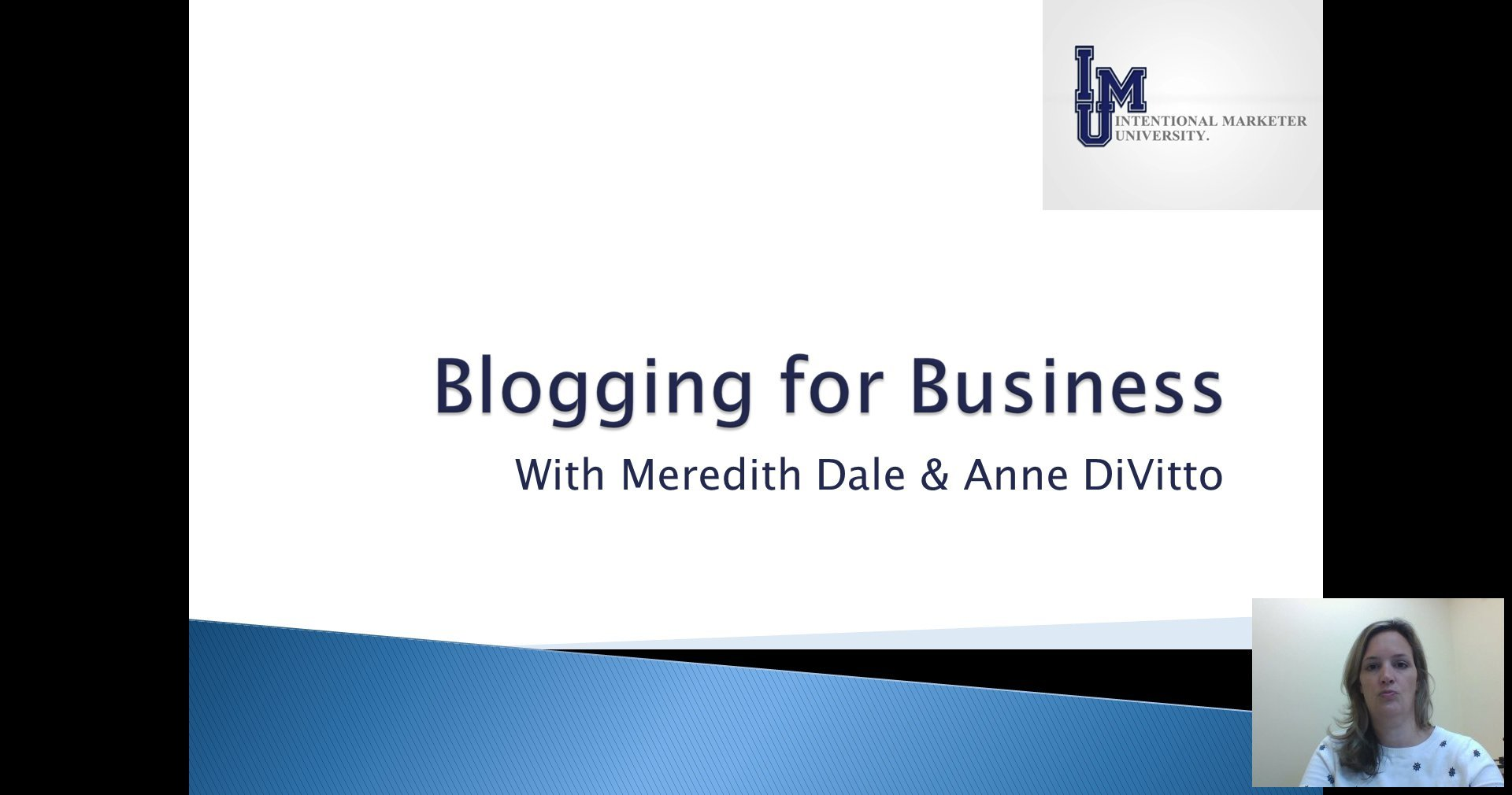 [Screencast: Blogging For Business]