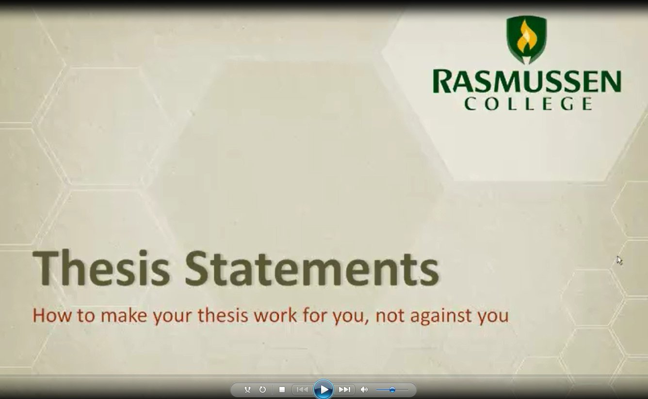 thesis statement technology education