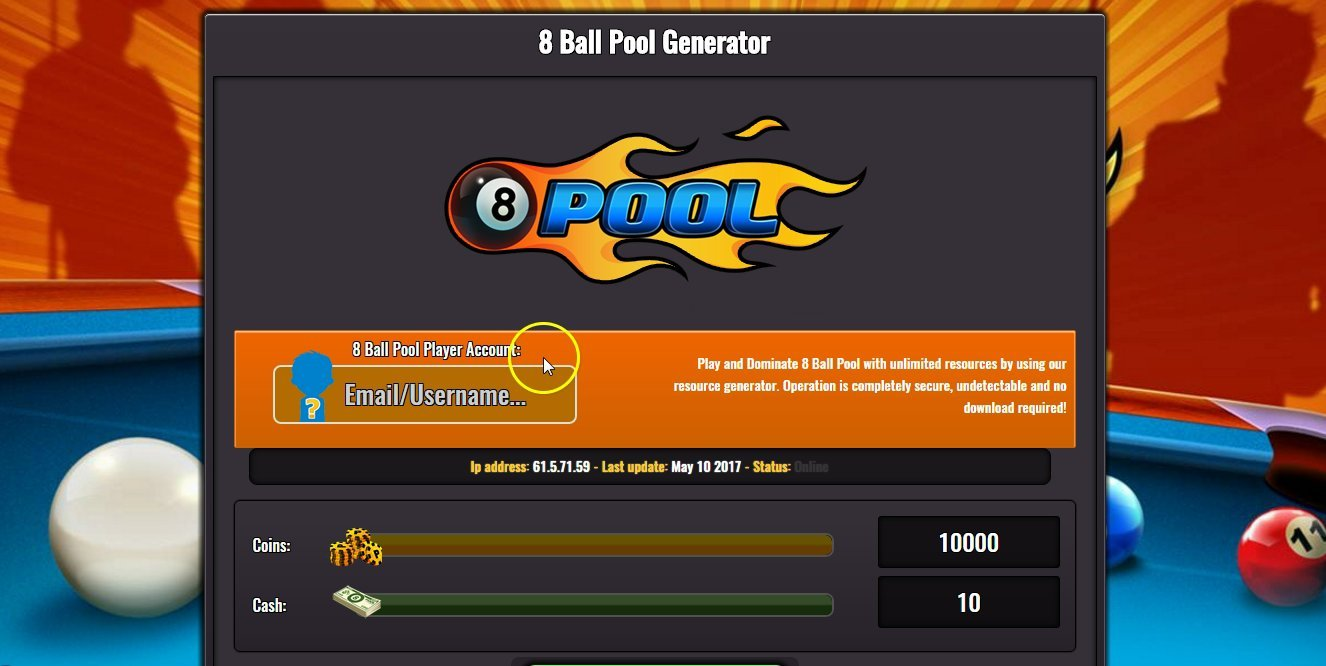8 ball pool hack coins cash cheat tool free download