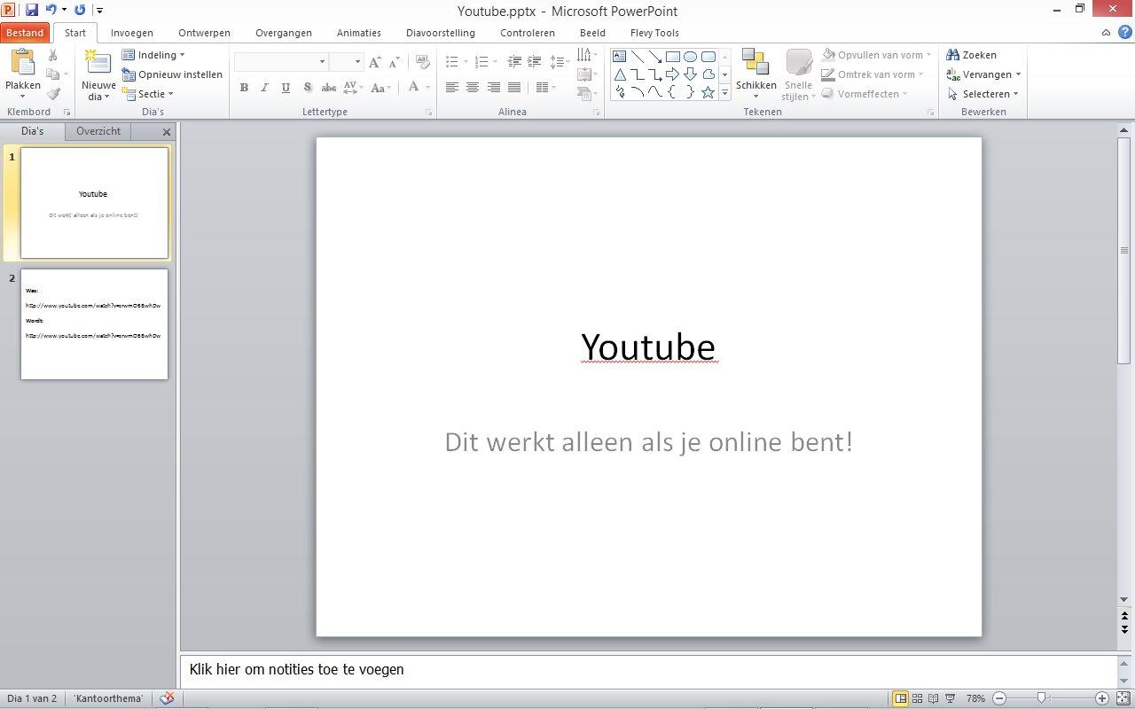 [Screencast: Youtube in Powerpoint]