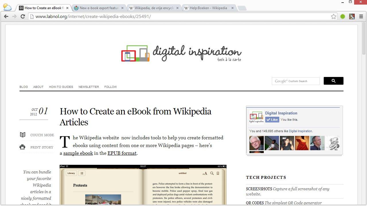 [Screencast: eBooks maken in Wikipedia]