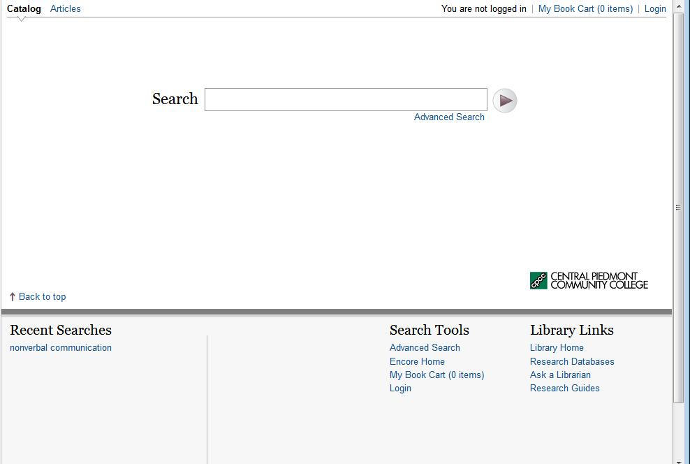 [Screencast: Library Research with Encore]
