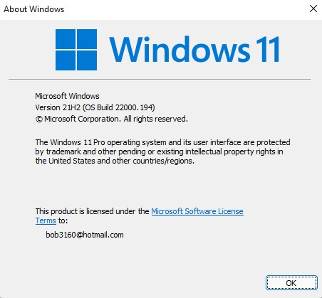 Windows 11 About Page