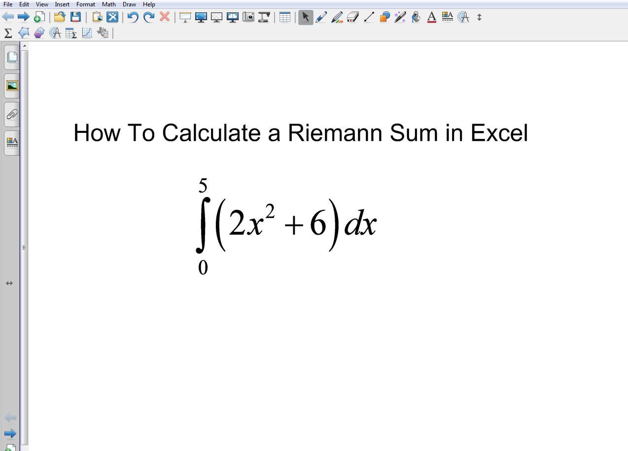 Riemann Sums In Excel