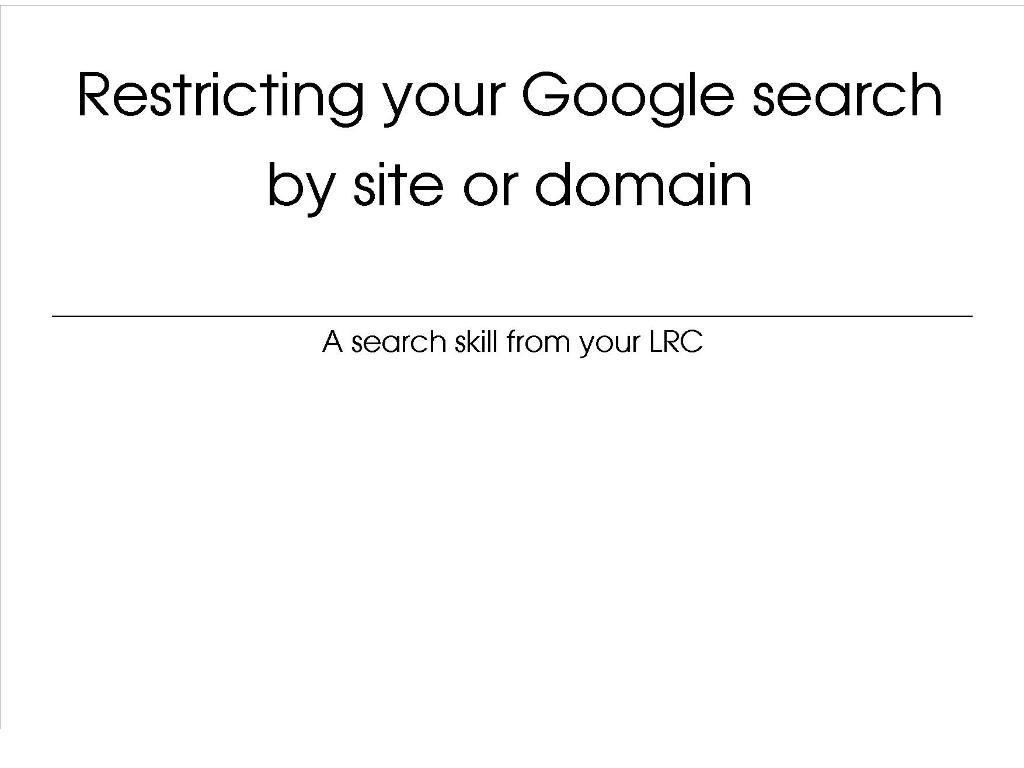[Screencast: How to filter search results by URL]