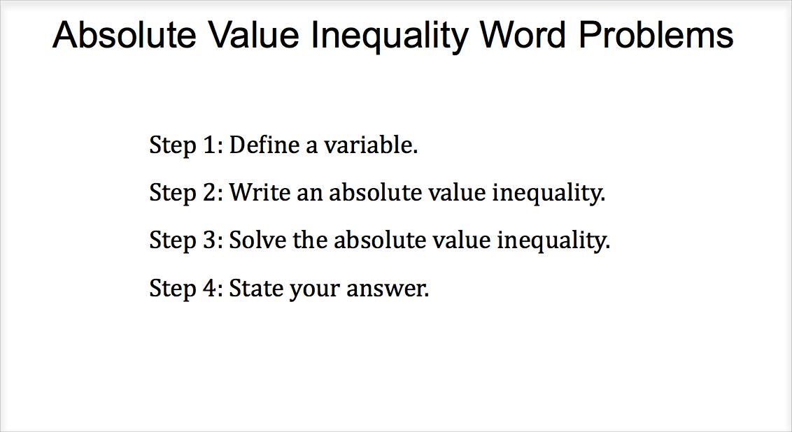 absolute value inequality word problems. Black Bedroom Furniture Sets. Home Design Ideas