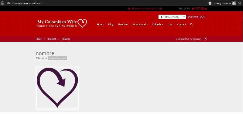 [Screencast: mycolombianwife.com Encontrar los hombres en la pagina ]