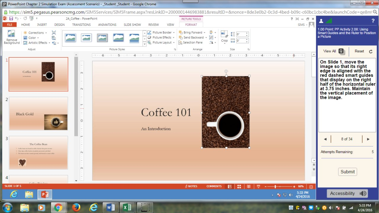 COMP 1000 - POWERPOINT Chapter 2 Simulation Exam Video 2