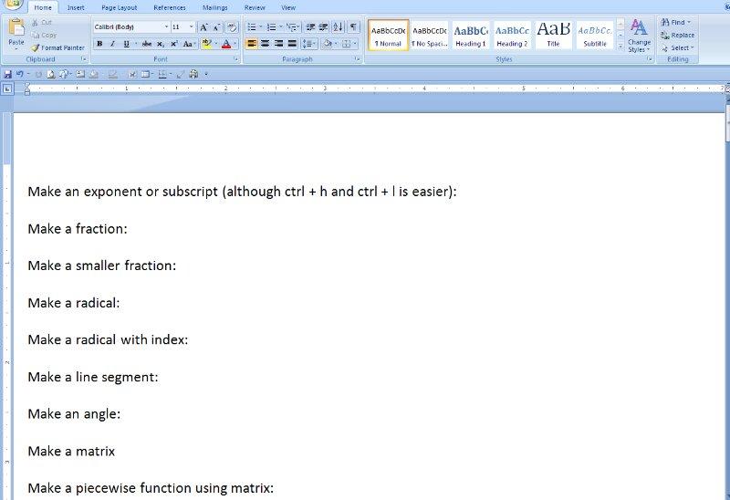 [Screencast: Using Equation Editor]