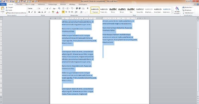[Screencast: Comment ajouter plusieurs colonnes de textes sur une même page avec Microsoft Word 2010 ?]