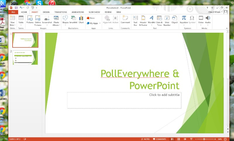 [Screencast: PollEverywhere & PowerPoint]