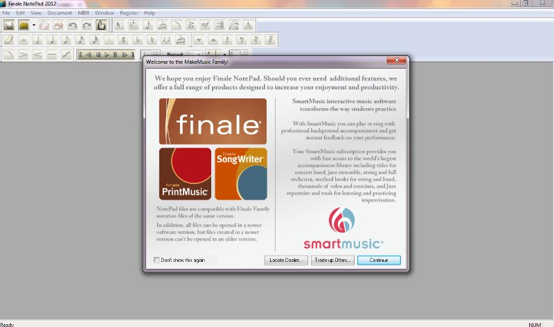 [Screencast: Setting Up a Finale Notepad Document]