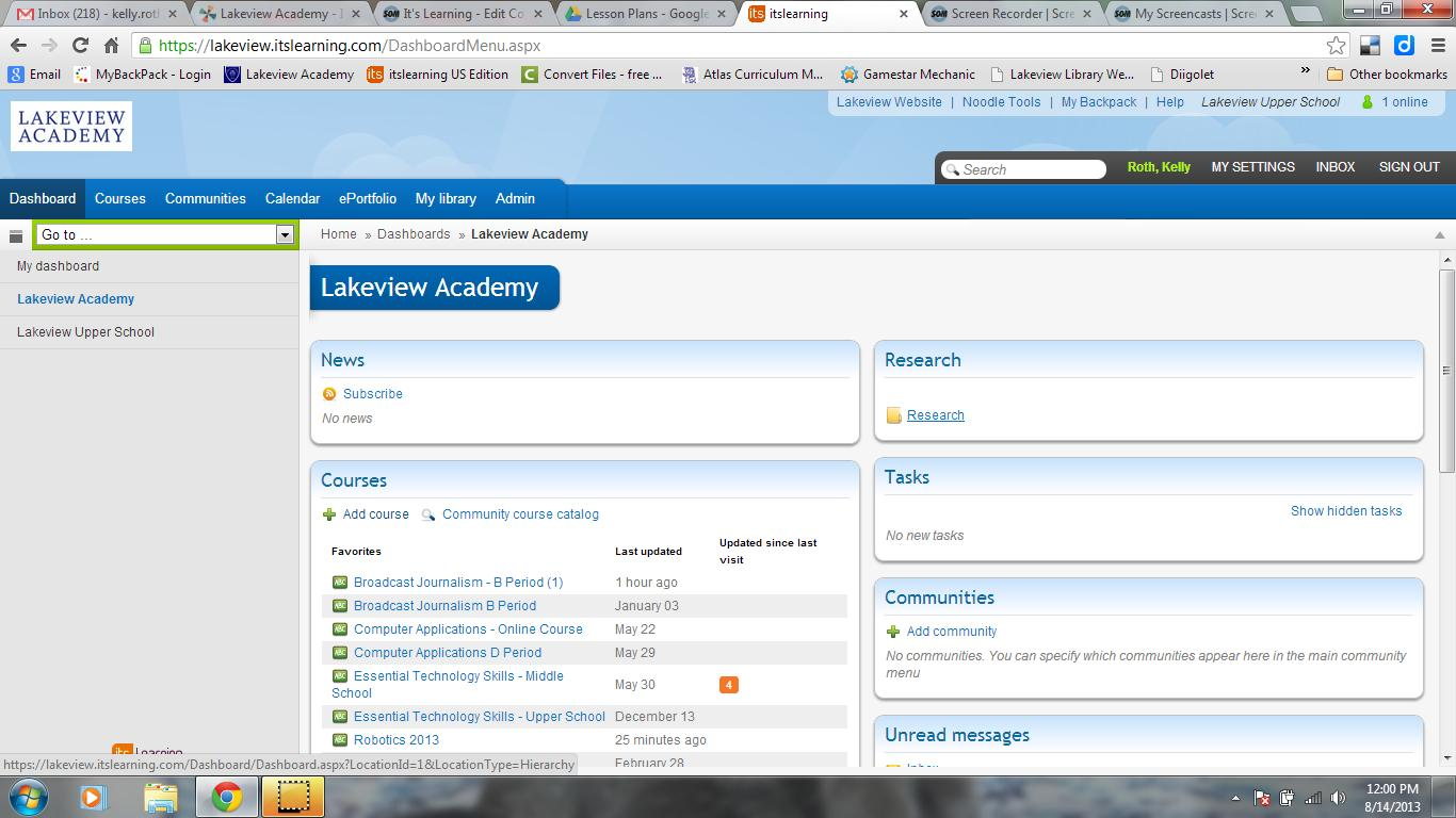 Lakeview Academy Its Learning