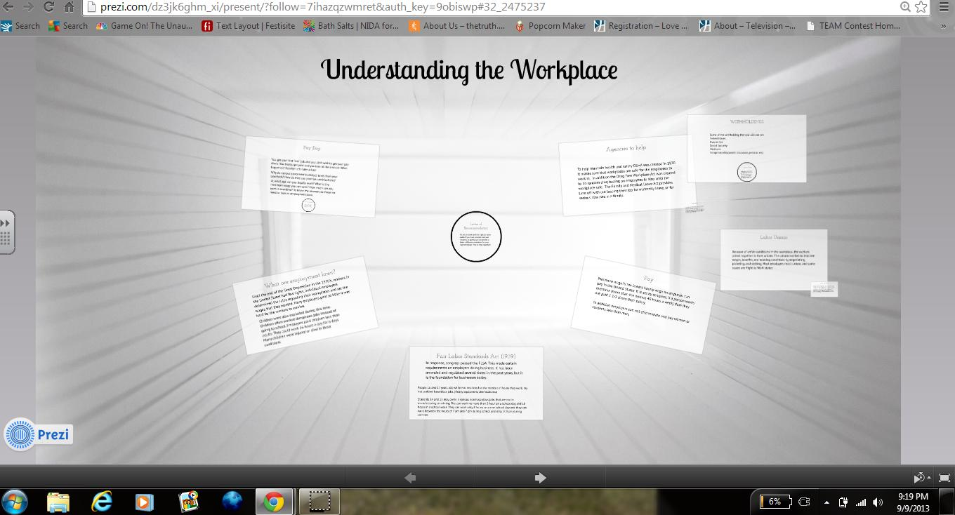 [Screencast: Understanding the Workplace]