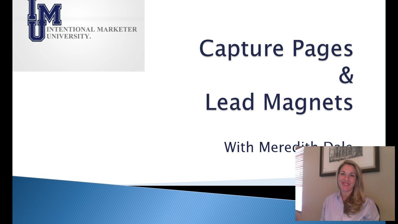 [Screencast: Capture Pages & Lead Magnets]