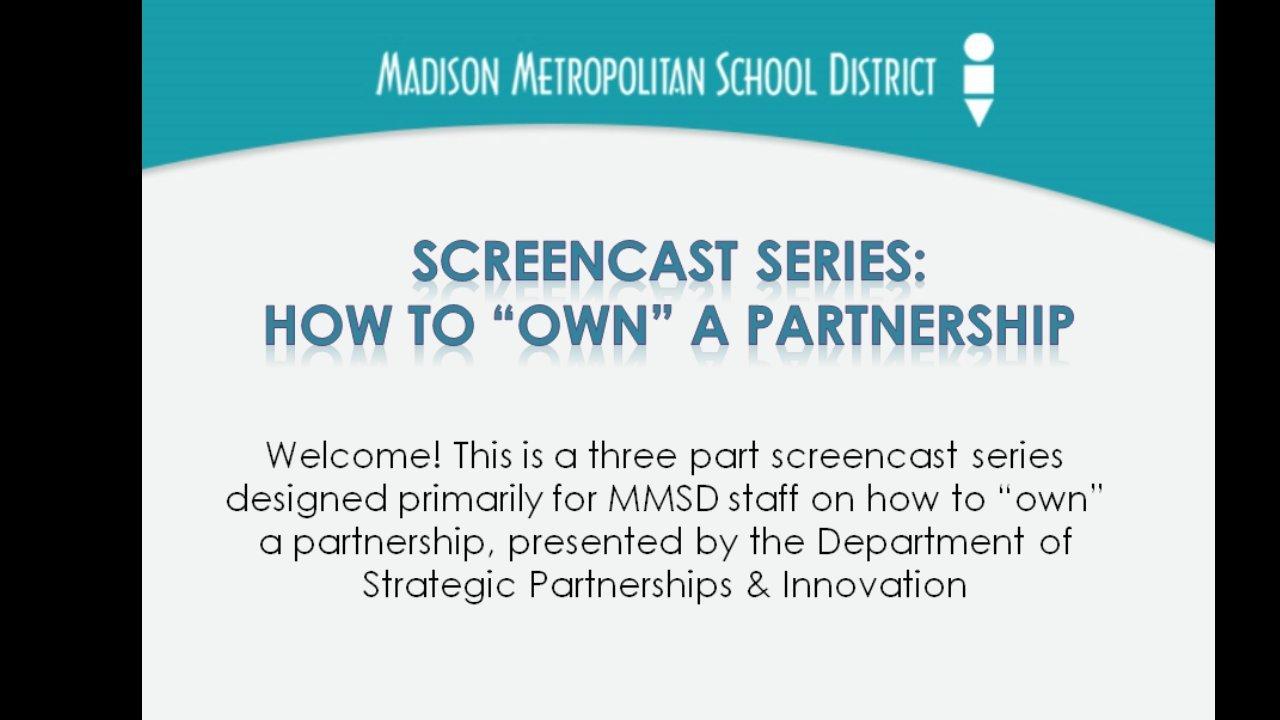 [Screencast: SCREENCAST Part 1: The Value of School-Community Partnerships]