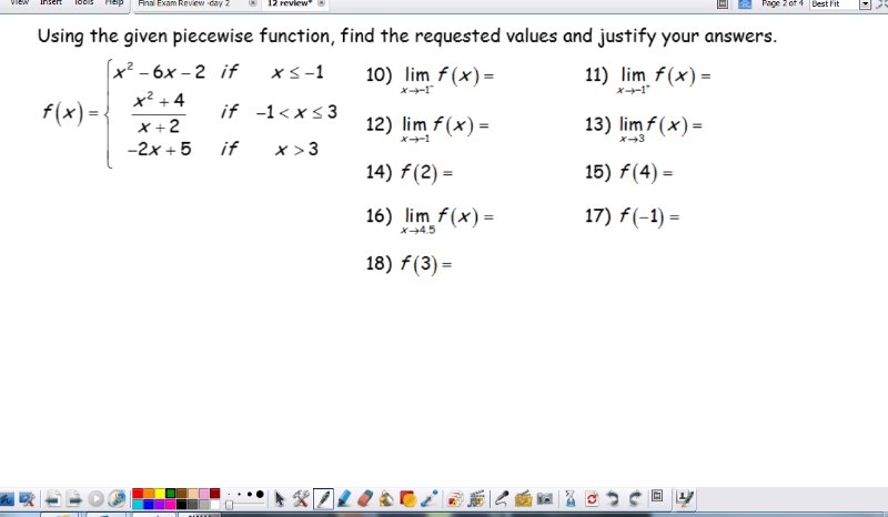 [Screencast: Unit 8 limit practice # 10-18]