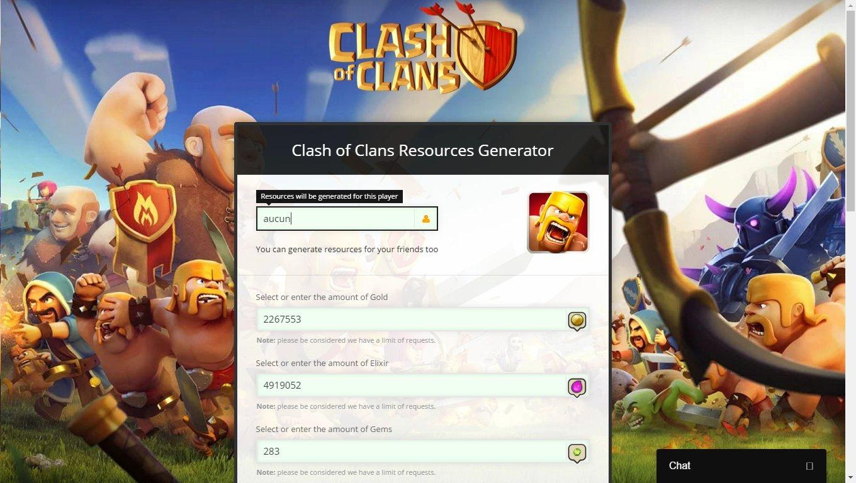 free gems in clash of clans generator