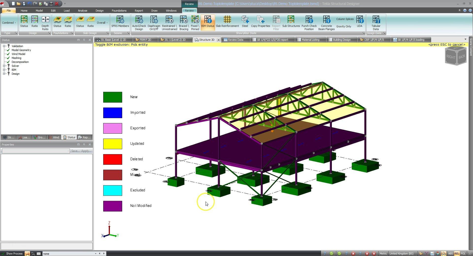 Tekla Structural Designer BIM Integration