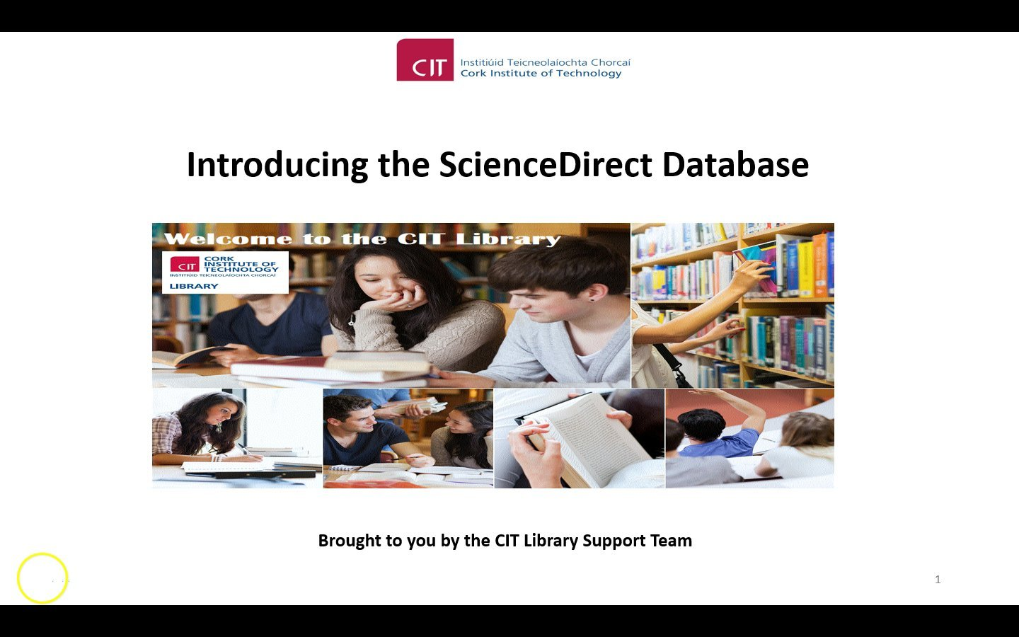 [Screencast: Science Direct]