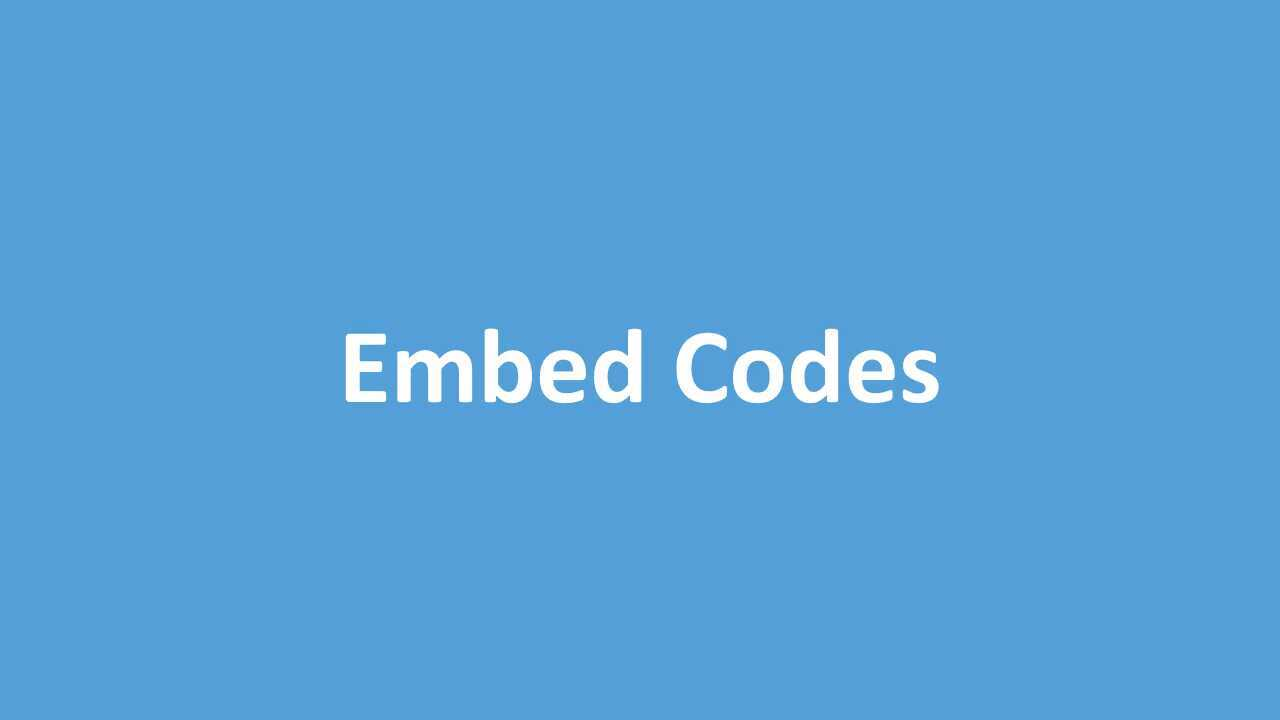 Embed Code Options