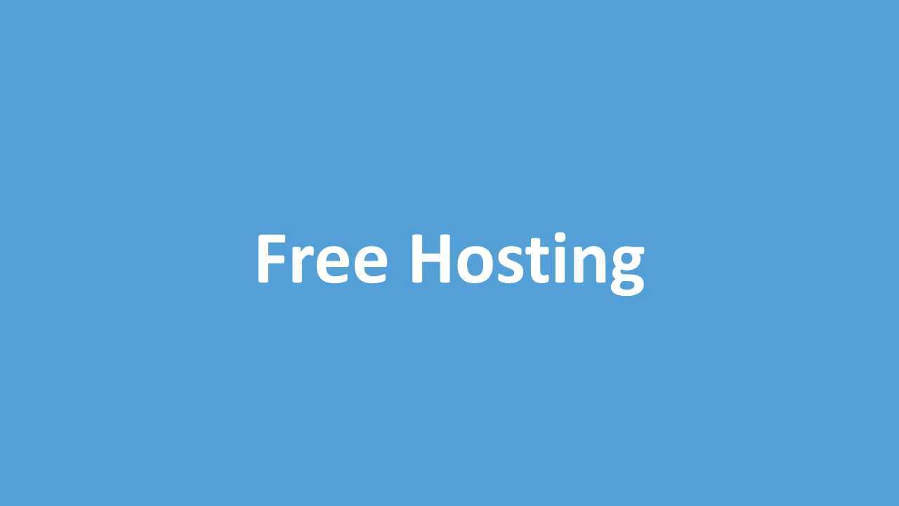Intro to Free Hosting