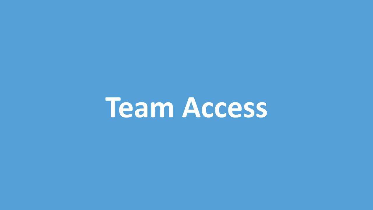 Setting up Team Access to Screen Recorder and Video Editor