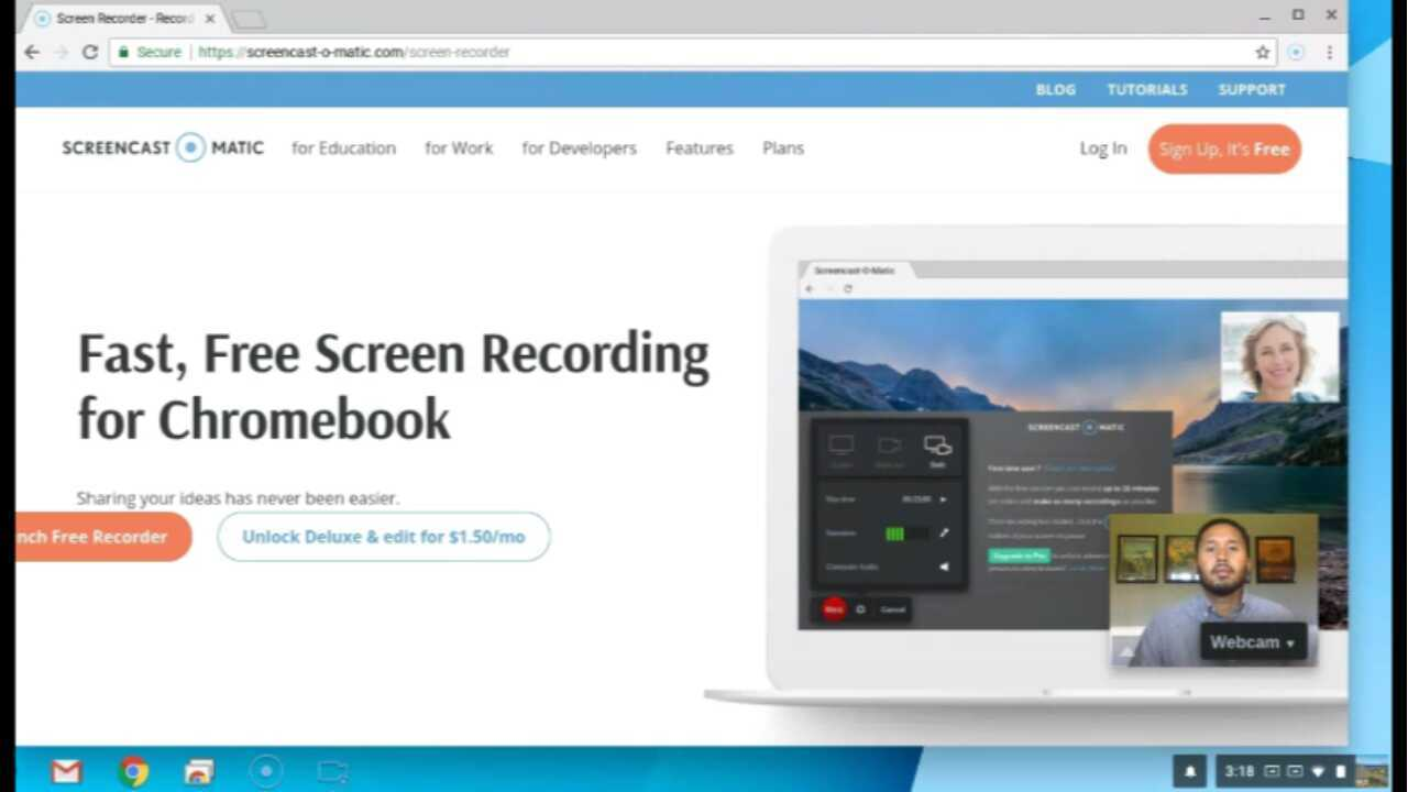 Recording Webcam and Screen on Chromebook