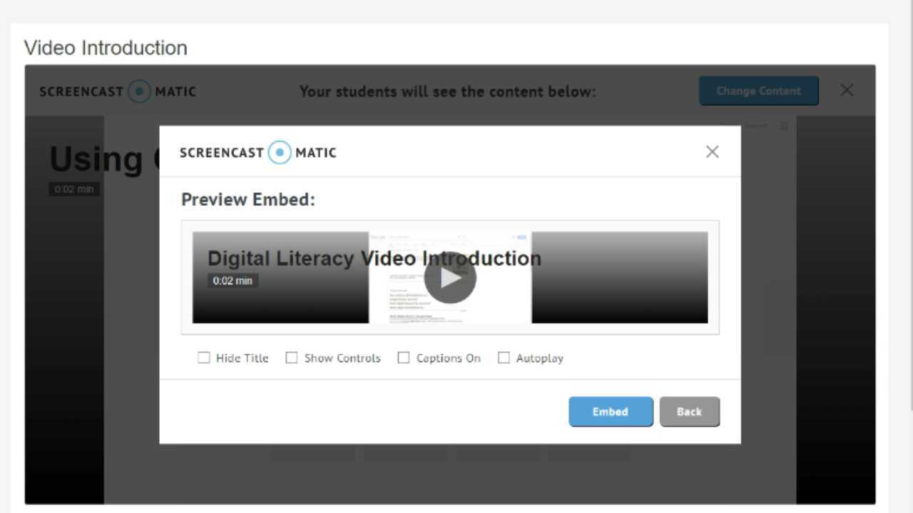 Using Screencast-O-Matic App for D2L