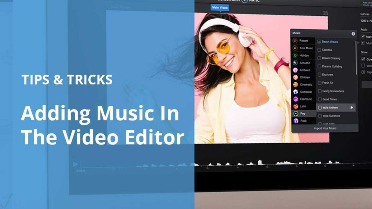 Stock Music In The Video Editor