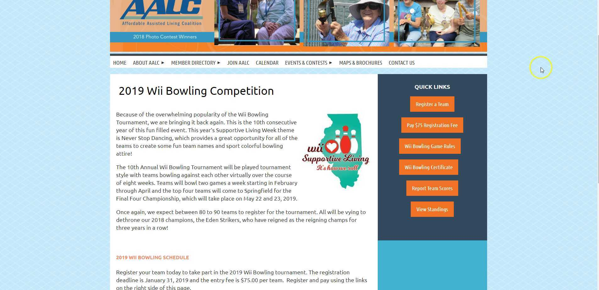 Affordable Assisted Living Coalition - 2019 Wii Bowling Competition