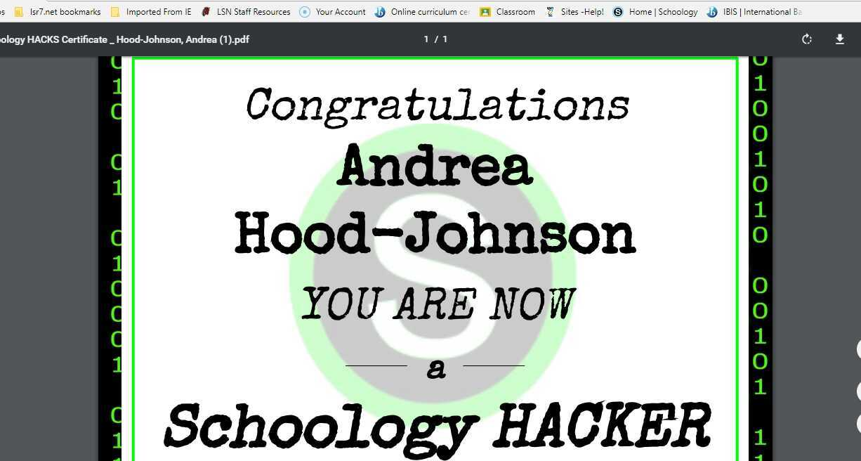 My Favorite Schoology Hack!