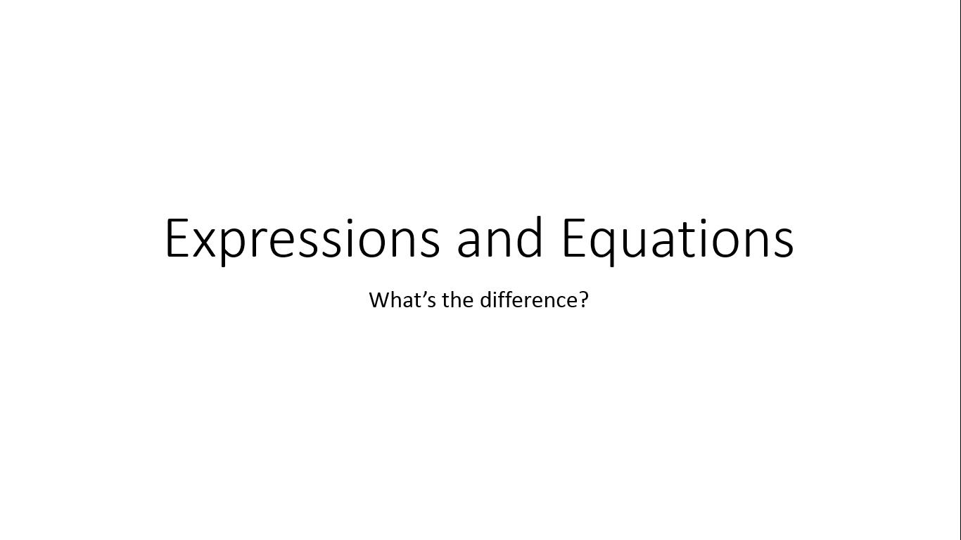 [Screencast: Expressions and Equations PreAP]