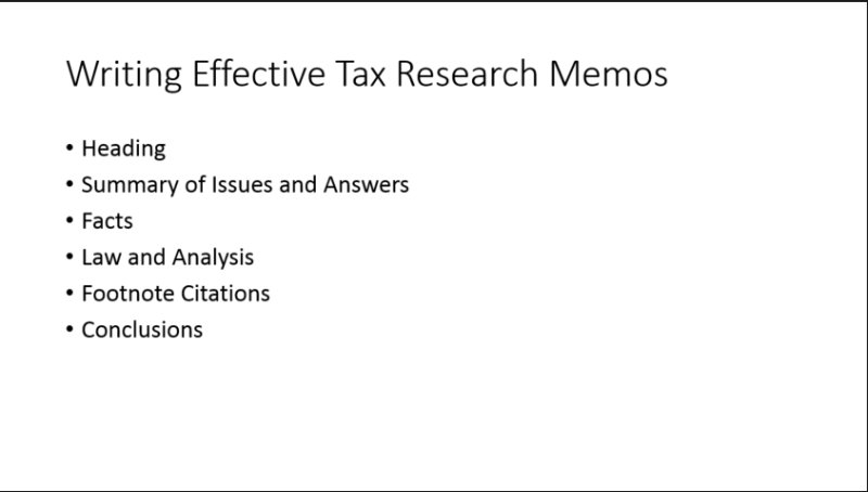 preview Tax Research Memo Format Example on conclusion example, how start, format examples,