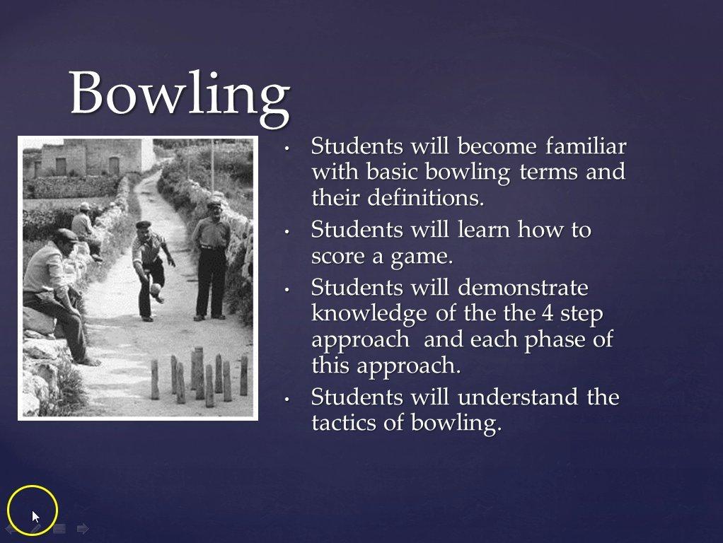 Bowling Lesson
