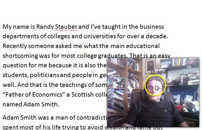 [Screencast: Adam Smith Lecture]